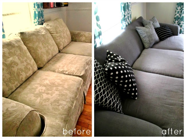 High Heels And Training Wheels Diy Couch Reupholster With A