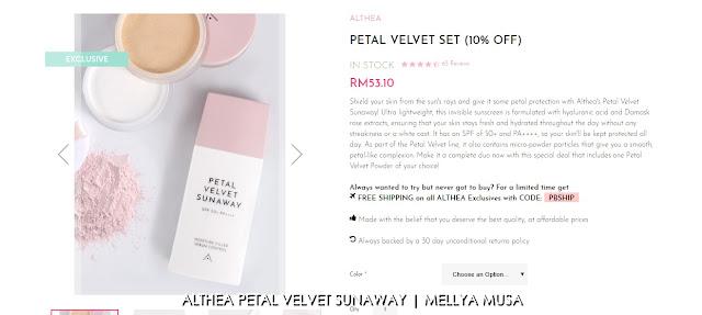 Althea Petal Velvet Sunaway Review