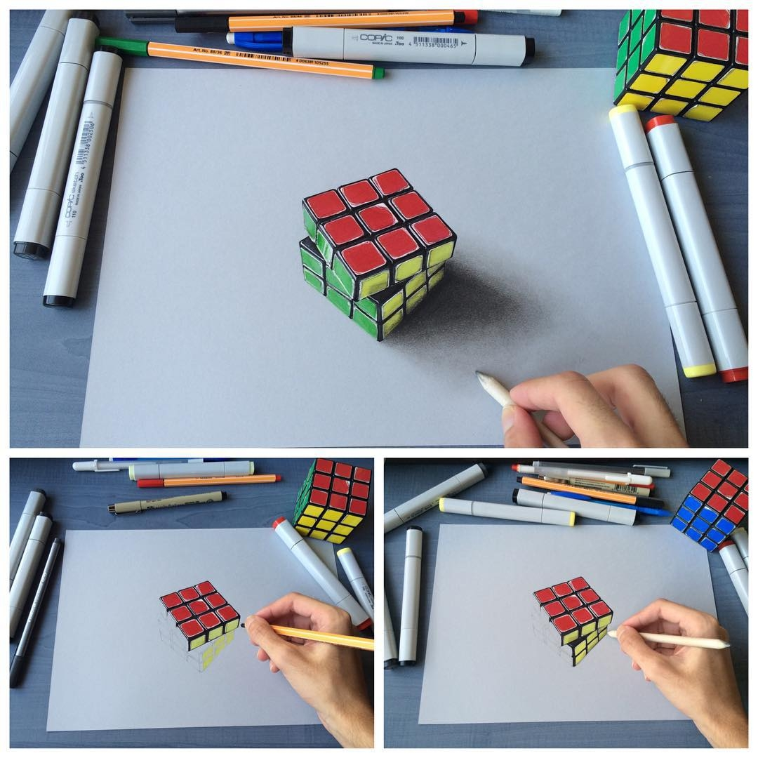 16-Rubik-s-Cube-Sushant-S-Rane-Constructing-3D-Drawings-one-Section-at-the-Time-www-designstack-co