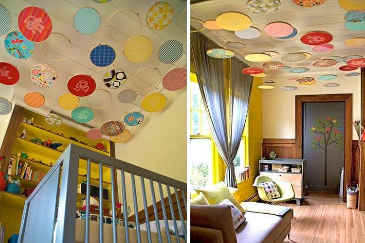 Marzua techos decorados con telas - Decorar muebles con tela ...
