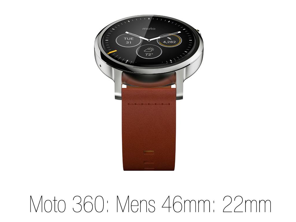 Moto 360 Mens size 46mm : 22mm