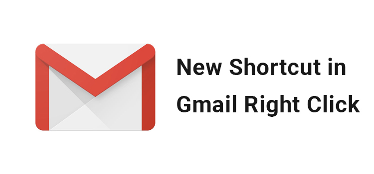Gmail add more shortcut on right click