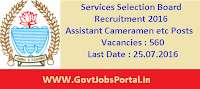 Services Selection Board Recruitment 2016