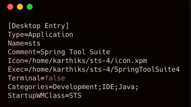 Blog @ Codonomics: Spring Tool Suite desktop entry to launch