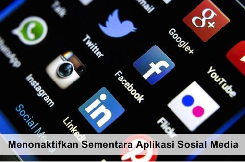 menonaktifkan aplikasi sosial media