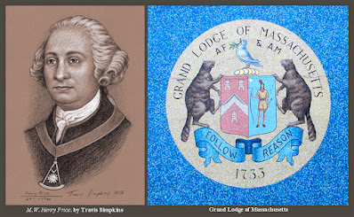 Henry Price. First Grand Master. 1733. Grand Lodge of Massachusetts. by Travis Simpkins