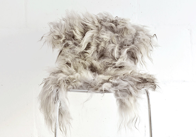 Genuine Icelandic sheepskin chair cover by Taftyli