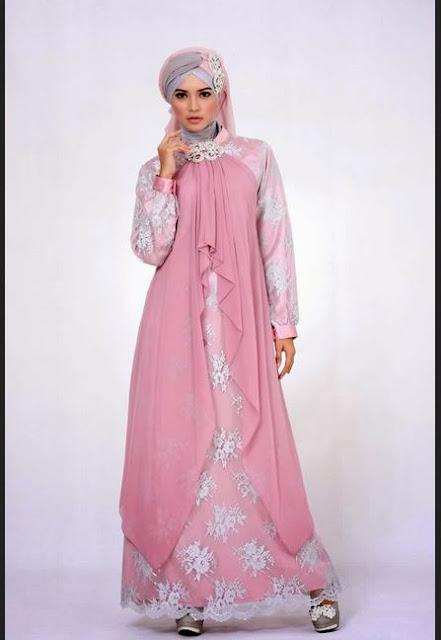 Gaun Pesta Muslim Modern Sifon dan Taff