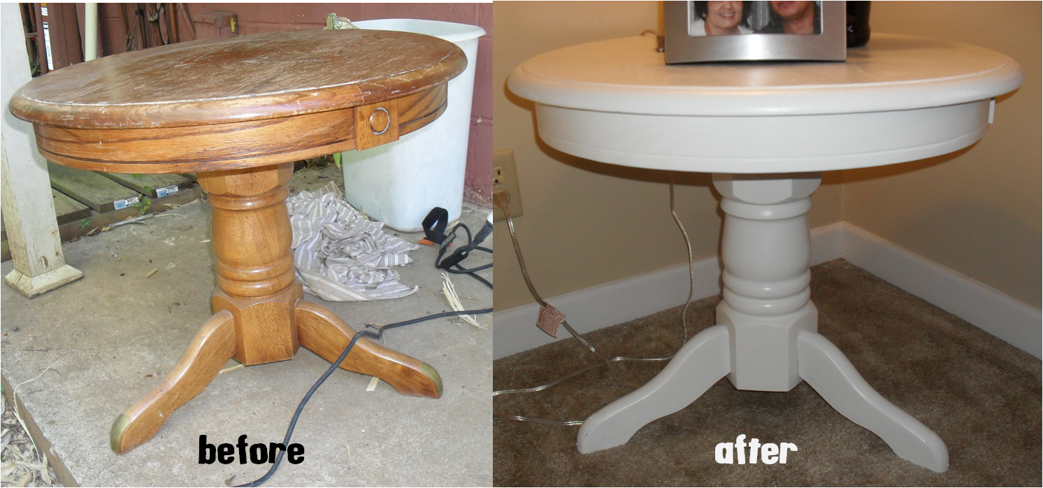 Distressed Round Table And Beach Kitchens