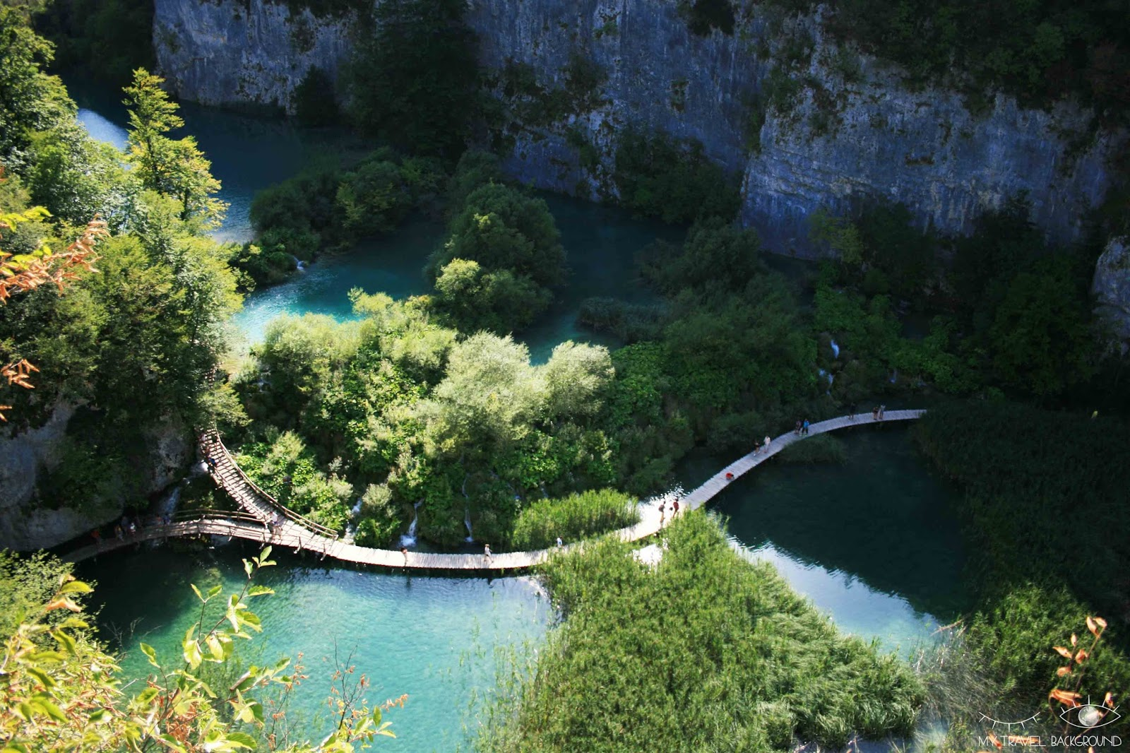 My Travel Background : cartes postales de Croatie - Les lacs de Plitvice