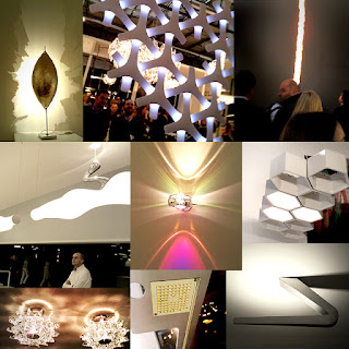 Lamps collage from Lighting fair Euroluce Milán 2011