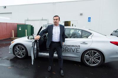 O Πρόεδρος της Nissan Carlos Ghosn, διηγείται την εμπειρία του πίσω από το τιμόνι ενός αυτόνομου οχήματος