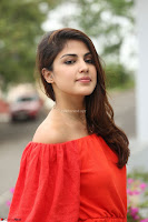 Rhea Chakraborty in Red Crop Top and Denim Shorts Spicy Pics ~  Exclusive 128.JPG