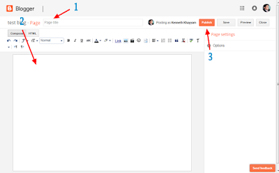 how to add and show pages on your blogger blog