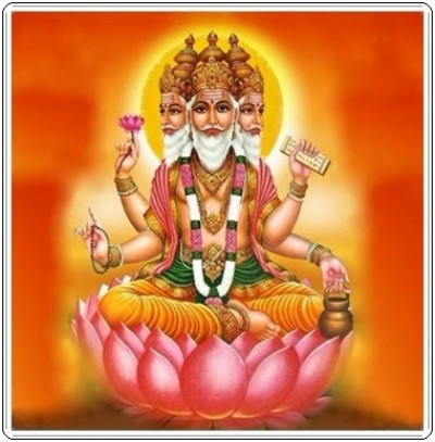 Hindu lord brahma picture