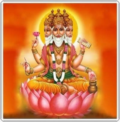 Hindu lord brahma picture