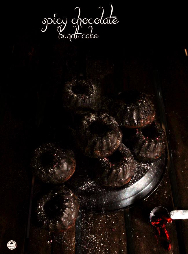 spicy chocolate mini bundt cake1