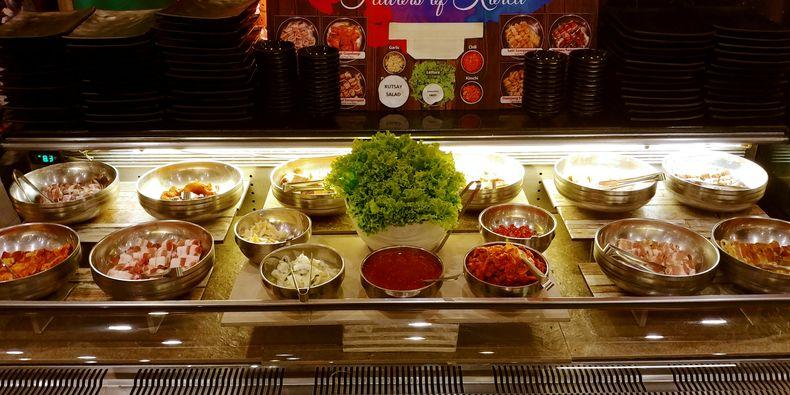 Korean buffet from Sambo Kojin, one of the best samgyupsal restaurants in Metro Manila