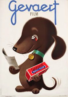 vintage ad illustration of a dachshund by Donald Brun