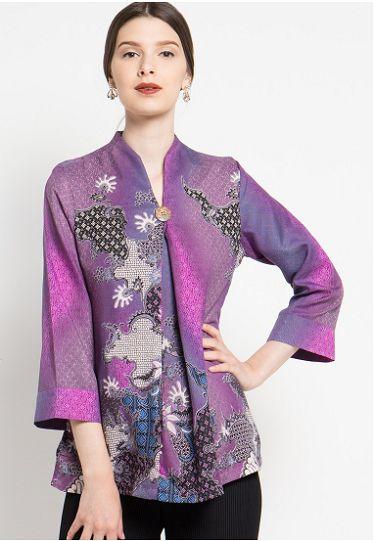 20 Desain Baju  Batik  Lengan  Panjang  Modern Wanita  Muda