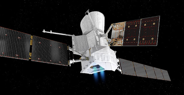 Artist's impression of the BepiColombo spacecraft in cruise configuration. Credit: ESA/ATG medialab