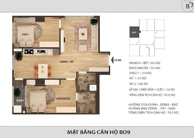 Chi tiết căn hộ B09