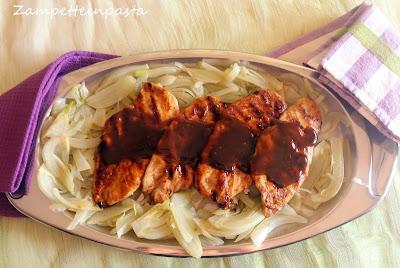 Petti di pollo su letto di finocchi - Secondo piatto di carne di pollo