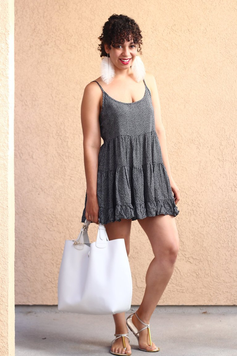 brandy melville jada dress, curly hair bangs, curly bangs