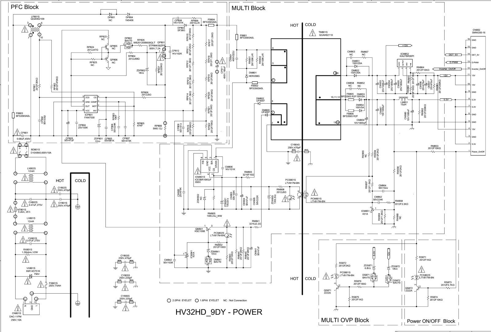 HV32HD 9DY – BN44 00289A – Samsung LE32B350F1W – Samsung