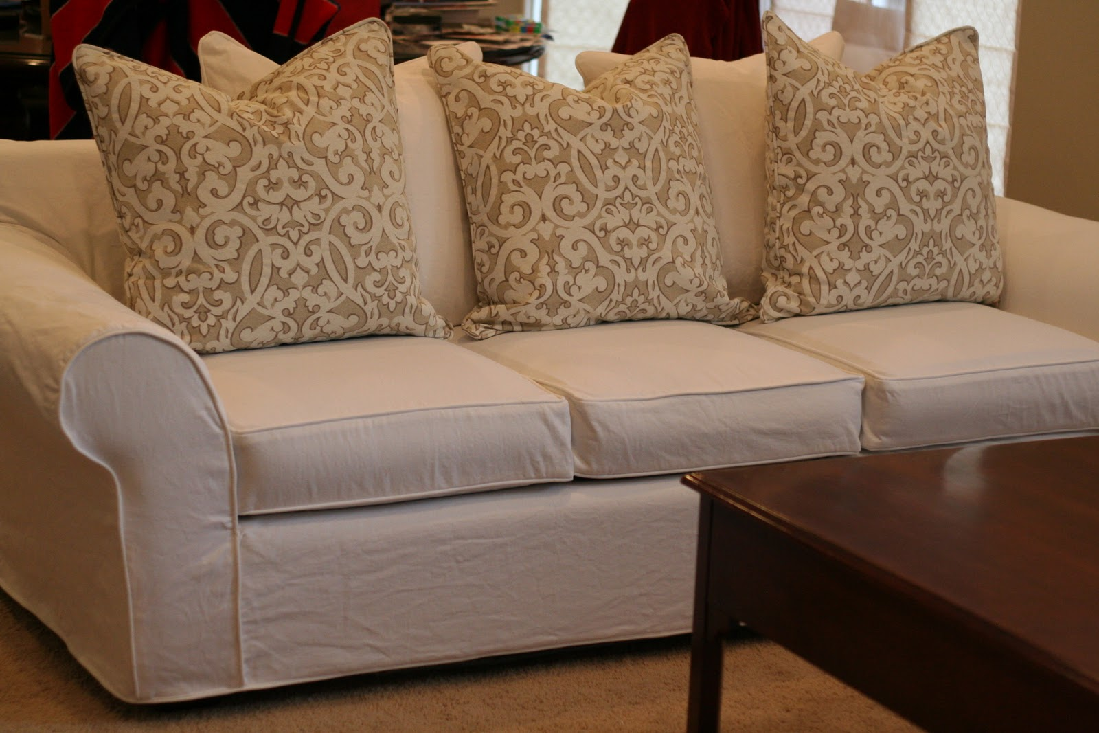 Pillow Back Sofa Slipcovers Cozy Cottage Slipcovers From ...