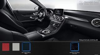 Nội thất Mercedes C300 AMG 2016 màu Đen 251