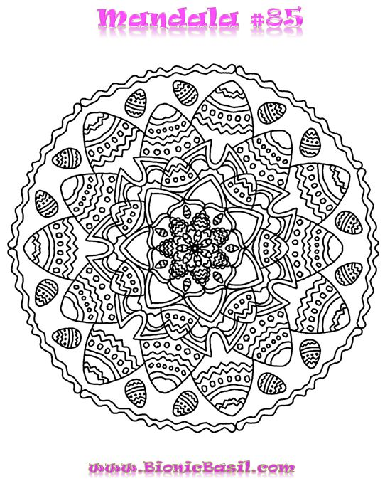 Mandalas on Monday #85 ©BionicBasil®  Colouring With Cats Downloadable Picture