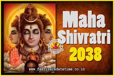 2038 Maha Shivaratri Puja Date & Time, 2038 Maha Shivaratri Pooja Calendar