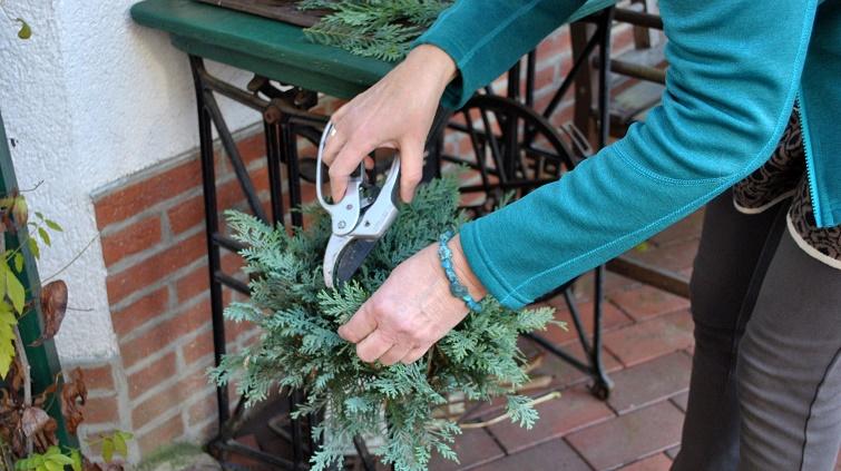 Schnittgut als Tannengrün für Weihnachten verwenden