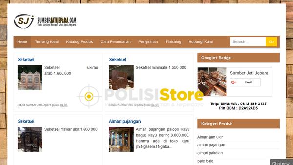 Sumber Jati Jepara - Verifikasi Toko Online Aman dan Terpercaya - Polisi Store