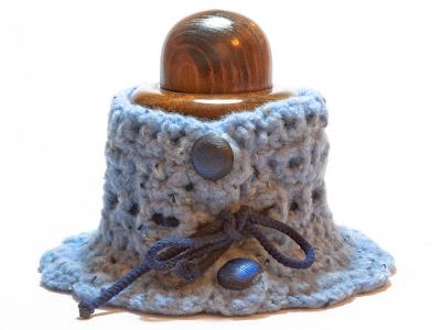 Cuello lana en azules. VENDIDO