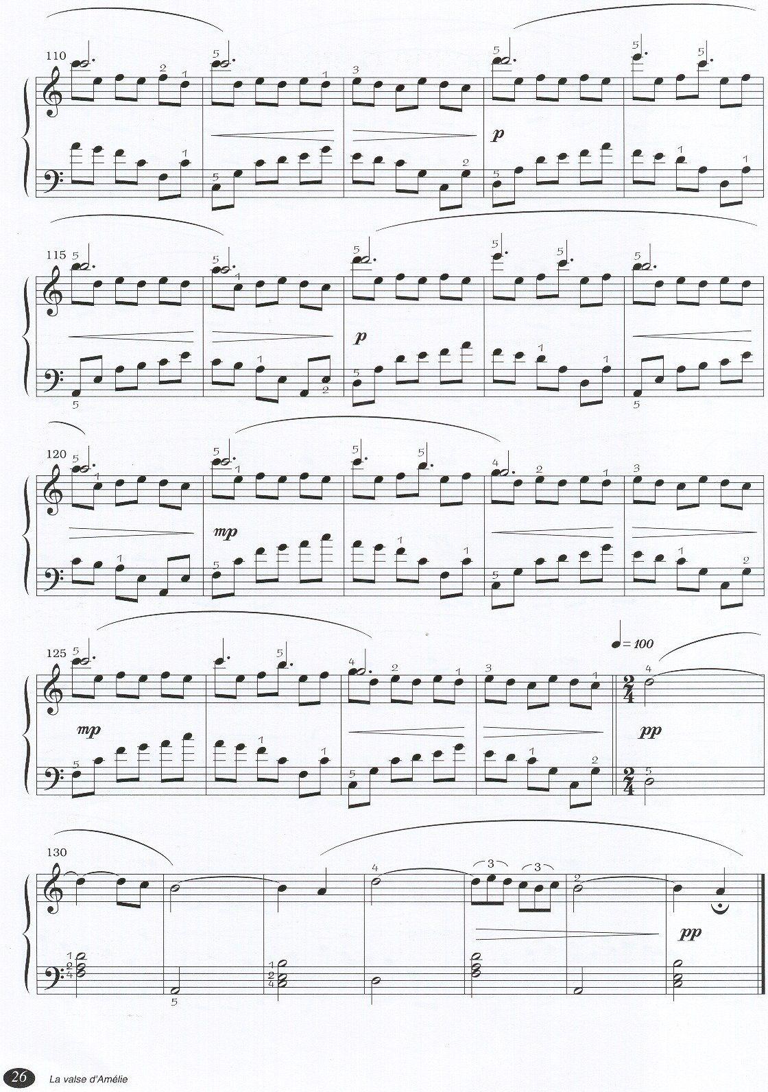 amelie klavier noten