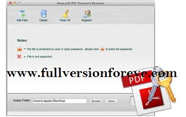 Amacsoft PDFPassword Amacsoft PDF Password Cracker 2.1.5 Multilingual + Crack + Key Working
