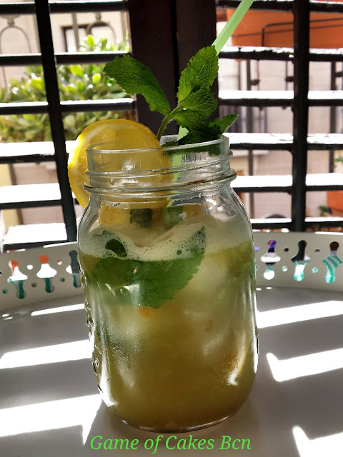 Té Matcha Helado con Limón y Menta