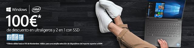 Mejores ofertas 100 € de descuento en ultraligeros y 2 en 1 con SSD de Worten