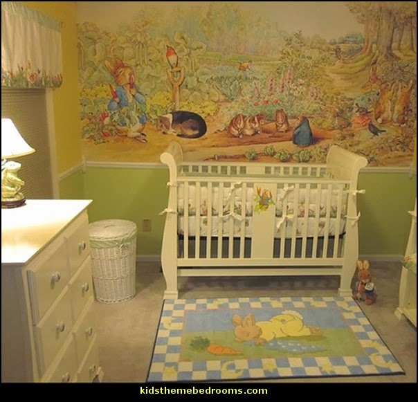 Decorating theme bedrooms maries manor peter rabbit for Baby room mural ideas