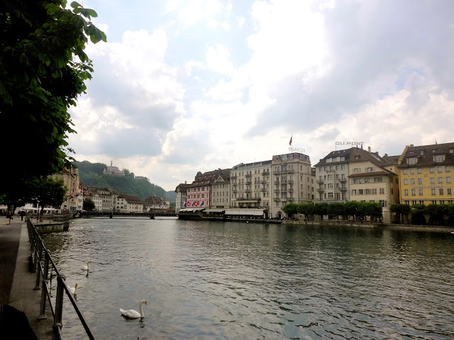 The River Reuss passing through Lucerne, Switzerland