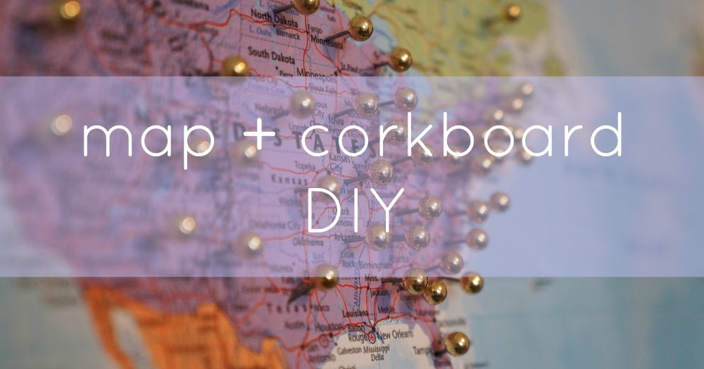 Good Natured: DIY Map + Corkboard = Shop Sales Map