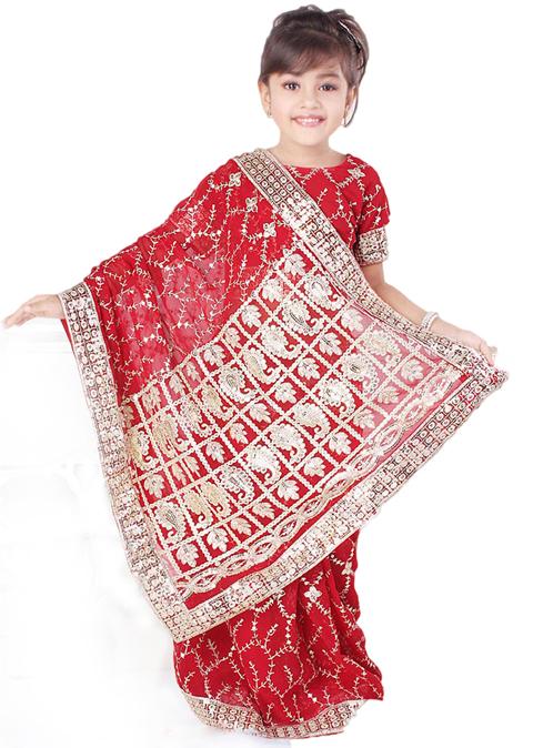 baju muslim anak sari india