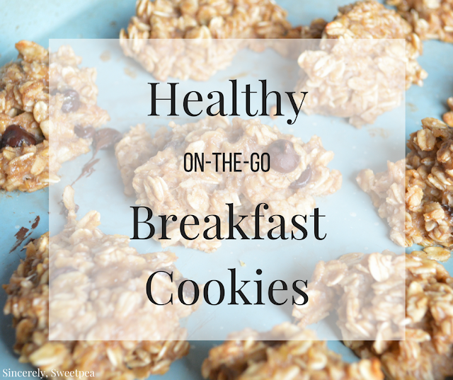 Healthy On-The-Go Banana Chocolate Chip Breakfast Cookies