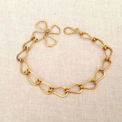 teardrop link chain free tutorial by Lisa Yang Jewelry