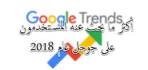 ما هو أكثر ما بحث عنه الناس في جوجل عام 2018؟