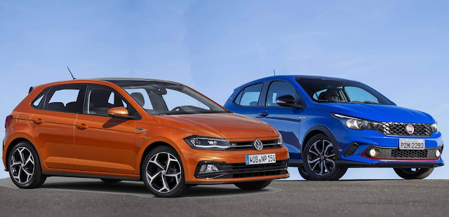 Fiat Argo x VW Polo 2018