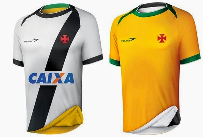 d5859caddaf13 Penalty lança camisa do Vasco dupla face alusiva à Seleçao Brasileira ~  FutGestão