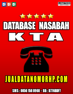 Jual Database Nasabah Prioritas KTA